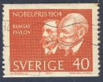 Stamps Europe - Sweden -  Premios Nobel 1904  Ramsay Pavlov