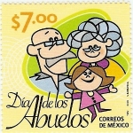 Stamps of the world : Mexico :  Dia de Los Abuelos