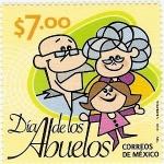 sellos de America - México -  Dia de Los Abuelos