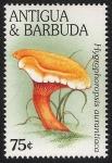 Stamps America - Antigua and Barbuda -  SETAS-HONGOS: 1.105.051,00-Hygrophoropsis aurantica