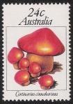 Sellos del Mundo : Oceania : Australia : SETAS-HONGOS: 1.108.001,00-Cortinarius cinnabarinus -