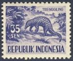 Stamps Asia - Indonesia -  Trenggiling   (Armadillo)