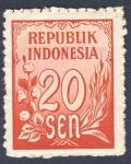 Sellos de Asia - Indonesia -  valor