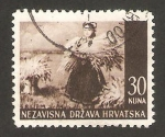 Sellos de Europa - Croacia -  cosecha de srijem