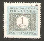 Stamps Europe - Croatia -  porto marka