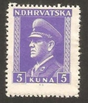 Stamps Croatia -  ante pavelitch, croata fascista político
