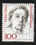 Stamps Germany -  Therese Giehse