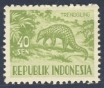 Stamps Indonesia -  Trenggiling   Armadillo
