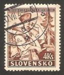 Sellos del Mundo : Europa : Eslovaquia : cortador de arboles