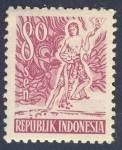 Stamps Indonesia -  Danza
