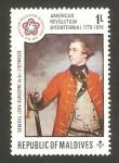 Stamps Asia - Maldives -  general john burgoyne