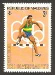 Stamps Asia - Maldives -  olimpiadas montreal 76, atletismo