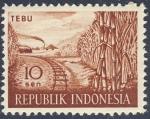 Stamps Indonesia -  Tebu