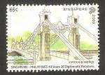 Stamps Asia - Singapore -  puente de cavenagh