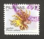 Stamps Philippines -  fauna, pez león colorado