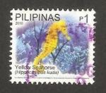 Sellos del Mundo : Asia : Filipinas : fauna, caballito de mar amarillo