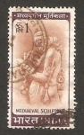 Stamps India -  escultura medieval