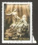 Sellos de Europa - Italia -  escultura de santa teresa