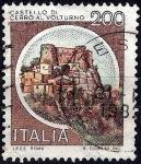 Stamps : Europe : Italy :  Castillos de Italia. Castello di cerro al volturno.