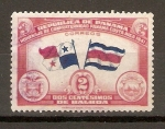 Stamps America - Panama -  BANDERA  DE  PANAMÁ  Y  COSTA  RICA