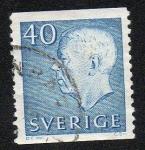 Sellos de Europa - Suecia -  Rey Gustavo VI Adolfo de Suecia