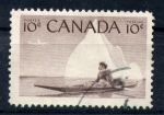 Stamps Canada -  Inuic en canoa