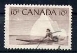 Sellos del Mundo : America : Canadá : inuic en canoa