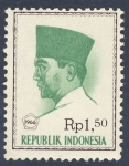 Stamps Indonesia -  Achmed Sukarno 1966