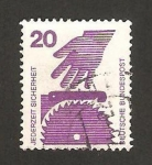 Stamps of the world : Germany :  574 - prevenir los accidentes, sierra circular
