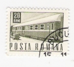 Sellos del Mundo : Europa : Rumania :  tren (repetido)