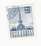 Sellos del Mundo : Europa : Rumania :  torre de comunicaciones.  Grande (repetido)