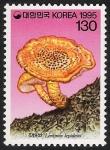 Stamps Asia - South Korea -  SETAS-HONGOS: 1.230.041,00-Lentinus lepideus