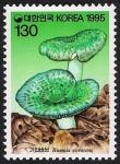 Stamps Asia - South Korea -  SETAS-HONGOS: 1.230.044,00-Russula virescens