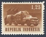 Sellos de Asia - Indonesia -  camion y remolque