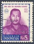 Sellos de Asia - Indonesia -  Brig Djen TNI  Anumerta Katamso 1923 1965