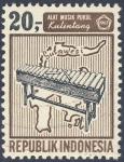Stamps Indonesia -  Alat Musik Pukul Kulintang