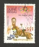 Sellos de Africa - Guinea Bissau -  olimpiadas de los ángeles 1932, salto a caballo