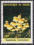 Stamps Africa - Niger -  SETAS-HONGOS: 1.202.002,00-Hypholoma fasciculare