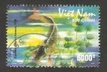 Stamps : Asia : Vietnam :  fauna marina, cyprinus carpio linnaeus, carpa común