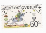 Stamps Czechoslovakia -  Jinete trompetista
