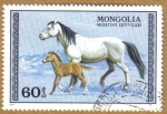 Stamps Asia - Mongolia -  Caballos