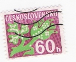 Stamps Czechoslovakia -  Abstracto