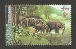 Sellos de Asia - Tailandia -  elefantes