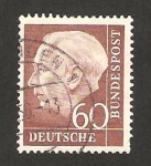 Stamps Germany -  71 B - Presidente Thedore Heuss