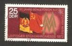 Stamps Germany -  Banderas de RDA y URSS