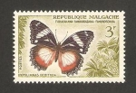 Stamps Africa - Madagascar -  mariposa, hypolimnas dexithea