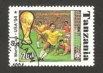 Stamps : Africa : Tanzania :  Mundial de fútbol USA 94