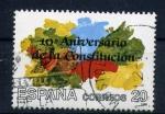 Stamps Spain -  10º anversario de la constitución