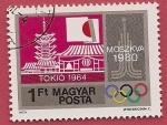 Sellos de Europa - Hungría -  Juegos Olímpicos Moscú 1980  -  Tokio 1964
