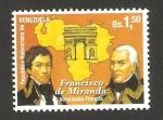sellos de America - Venezuela -  francisco de miranda, emisión conjunta con Francia